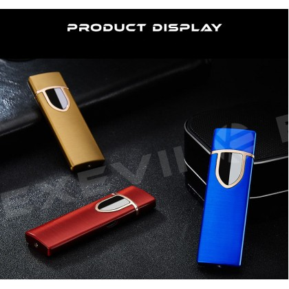 Matte Color Type Touch Switch Creative USB Rechargeable Lighter