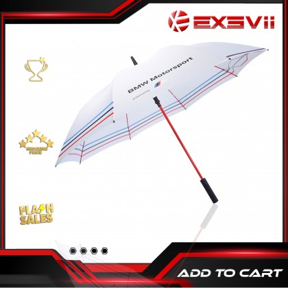 BMW MOTORSPORT White High Quality Full Foldable Fibre Advanced Umbrella men woman sun rain windproof windy wind resistant uv daily travel golf