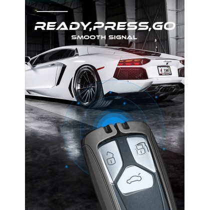 AUDI DREAM Alloy Metal Car Key Holder Pouch Shell Remote Case Casing FOB Cover Bag Chain Protector Accessories