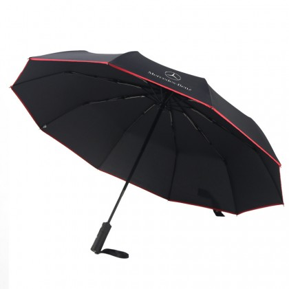 Mercedes Auto Compact High Quality Full Fibre Advanced Big Umbrella men woman sun rain windproof windy wind resistant uv daily travel use Foldable UV Mercedes Benz Mercedes-Benz