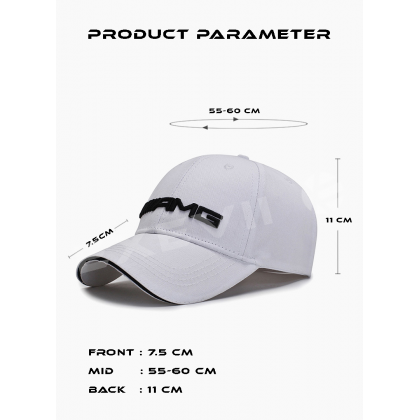 High Quality White Mercedes AMG Baseball Cap Summer Snapback Fashion Casual Sports Hats For Men & Women Cap daily use