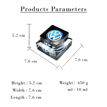 BMW Car Logo Air Freshener Perfume Air Cleaner Car Auto Solid Aroma Diffuser Aromatherapy Ornaments Crystal Glass Bottle For Car Home Office Men Women daily use