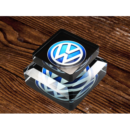 Volkswagen Car Logo Air Freshener Perfume Air Cleaner Car Auto Solid Aroma Diffuser Aromatherapy Ornaments Crystal Glass Bottle For Car Home Office Men Women daily use