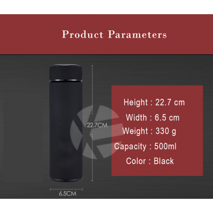 Lamborghini Black 304 Stainless Steel Coffee Hot Cold Tea Soup Thermos Thermal Tumbler 500ML Water Flask Bottle Container Men Woman summer winter Travel daily use