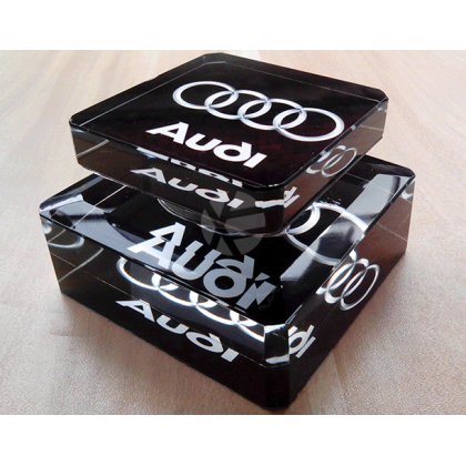 Audi Car Logo Air Freshener Perfume Air Cleaner Car Auto Solid Aroma Diffuser Aromatherapy Ornaments Crystal Glass Bottle For Car Home Office Men Women daily use