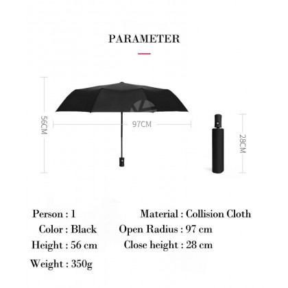Ford High Quality Full Foldable Fibre Advanced Umbrella men woman sun rain windproof windy wind resistant uv daily travel use