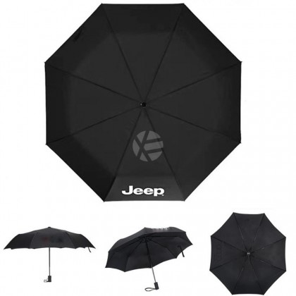 Jeep High Quality Full Foldable Fibre Advanced Umbrella men woman sun rain windproof windy wind resistant uv daily travel use