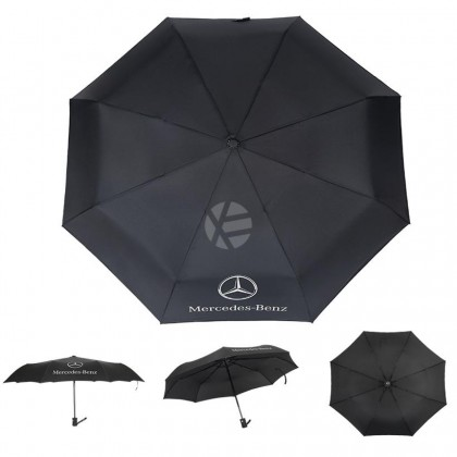 Mercedes High Quality Full Foldable Fibre Advanced Umbrella men woman sun rain windproof windy wind resistant uv daily travel use