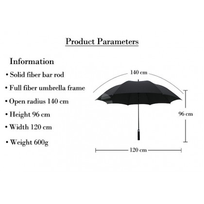 Ford High Quality Full Fibre Advanced Big Umbrella men woman sun rain windproof windy wind resistant uv daily travel use
