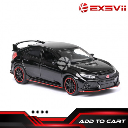 Honda Civic type R 1:32 model alloy Diecast Cars sound and light pull car TOYS COLLECTION gift vehicle model for boys girls